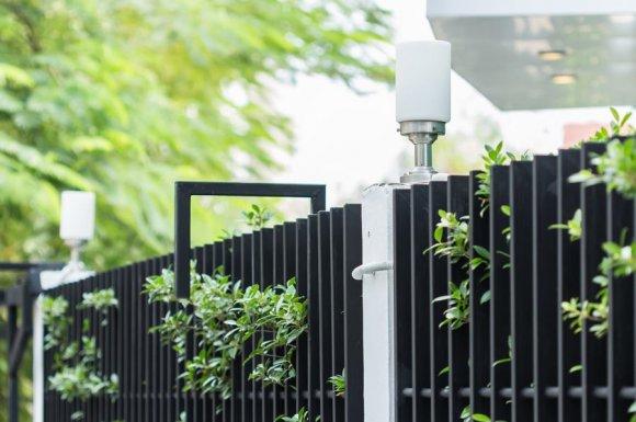 Professionnel pour la pose de clôture autour d'un jardin